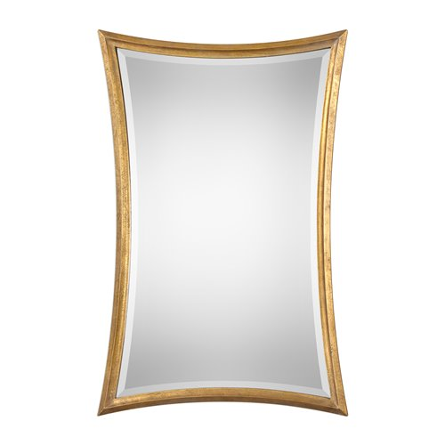 Uttermost Vermejo Scalloped Gold Mirror