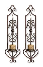 Uttermost Privas Metal Wall Sconces, Set/2