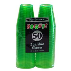 Neon Shots, 2 oz Green Bg/50