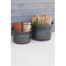 Black Copper Containers Set of Two