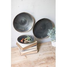 Black Copper Platters Set of 3