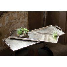 Silver Aluminum Platter - Large