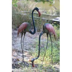 Recycled Metal Flamingos Set of 2