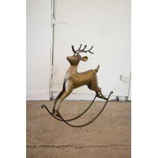 Rustic Zinc Rocking Deer
