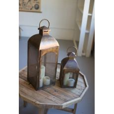 Bronze Lanterns Set of Two