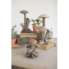 Driftwood Mushroom Clusters Set of 3