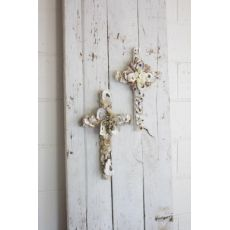 Oyster Shell Crosses Set of Two