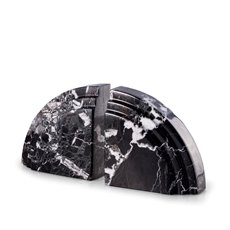 Black Zebra Marble Arch Bookends