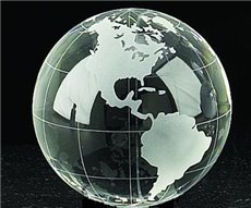 4 Acetate Etched Glass Globe