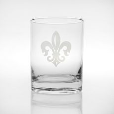 Grand Fleur De Lis DOF Glasses, Set of 4
