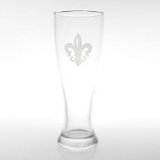 Grand Fleur De Lis Pilsner Glasses, Set of 4