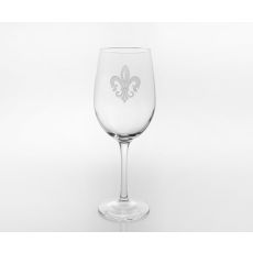 Grand Fleur De Lis White Wine Glasses, Set of 4