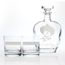 John Wayne Quotes Series 2 Decanter & OTR Glasses, Set of 3