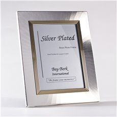 Silver and Brass 4x6 Picture Frame with Easel Back