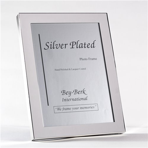 Silver Plated 8x10 Picture Frame with Easel Back