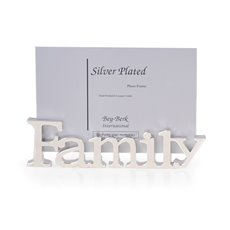 Silver Plated 4x6 Family Picture Frame