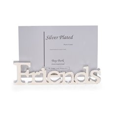 Silver Plated 4x6 Friends Picture Frame