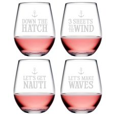 Down the Hatch Asst Tritan Stemless Tumblers, S/4