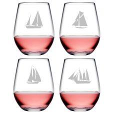 Regatta  Asst Tritan Stemless Wine Tumblers, S/4