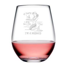 Drink Like A Fish Tritan Stemless Wine Tumblers, S/4