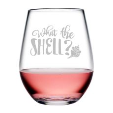 What the Shell? Tritan Stemless Wine Tumblers, S/4