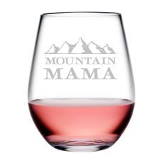 Mountain Mama Tritan Stemless Wine Tumblers, S/4