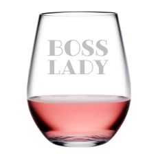 Boss Lady Tritan Stemless Wine Tumblers, S/4