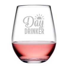 Day Drinker Tritan Stemless Wine Tumblers, S/4