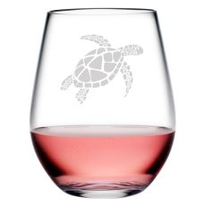 Sea Turtle Tritan Stemless Tumblers, S/4