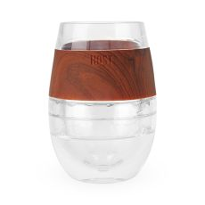 Wine FREEZE Cooling Cup in Wood Single