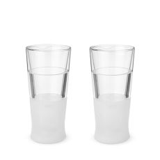 Glass FREEZE Beer Glass (set of two) by HOST