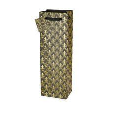 Art Deco Single-bottle Wine Bag by Cakewalk
