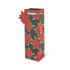 Poinsettia Single-bottle Wine Bag by Cakewalk