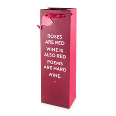 Wine Poem 750ml Bottle Bag By Cakewalk