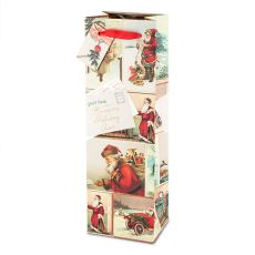 Santa Collage Single-Bottle Wine Bag by Cakewalk