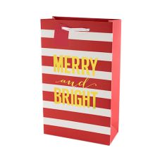 Merry and Bright Stripes Double Bottle Bag