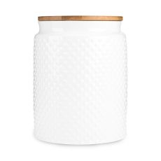 Pantry: Hobnail Textured Ceramic Medium Canister by Twine