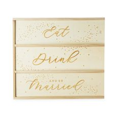 Garden Party Eat, Drink & Be Married 3 Bottle Wine Box