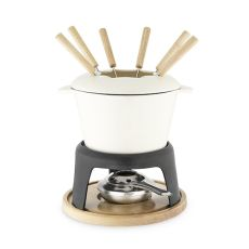 Cast Iron Fondue Set by Twine