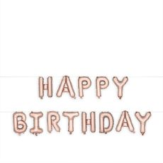 Rose Gold HAPPY BIRTHDAY Mylar Balloon by Cakewalk