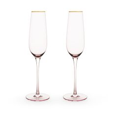 Rose Crystal Champagne Flute Set by Twine