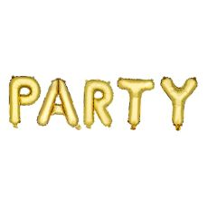 Gold PARTY Mylar Balloon