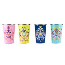 Frida: Assorted Painted Floral Tumblers by Blush