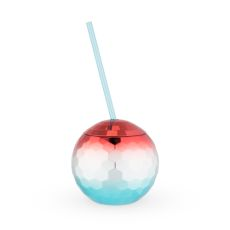 Red White and Blue Disco Ball Tumbler by Blush