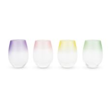 Frosted: Ombre Stemless Wine Glasses by Blush