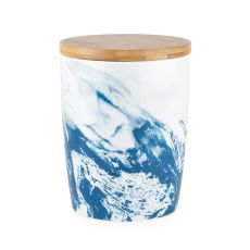 Small Marbled Ceramic Canister by Twine