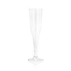 True Party 5.5 oz Plastic Champagne Flute, Set of 12