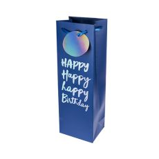 Very Happy Birthday Single-Bottle Wine Bag by Cakewalk
