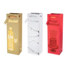 Assorted Merriment Single-bottle Wine Bag by Cakewalk
