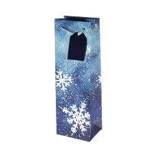 Brushed Snowflake Single Bottle Wine Bag